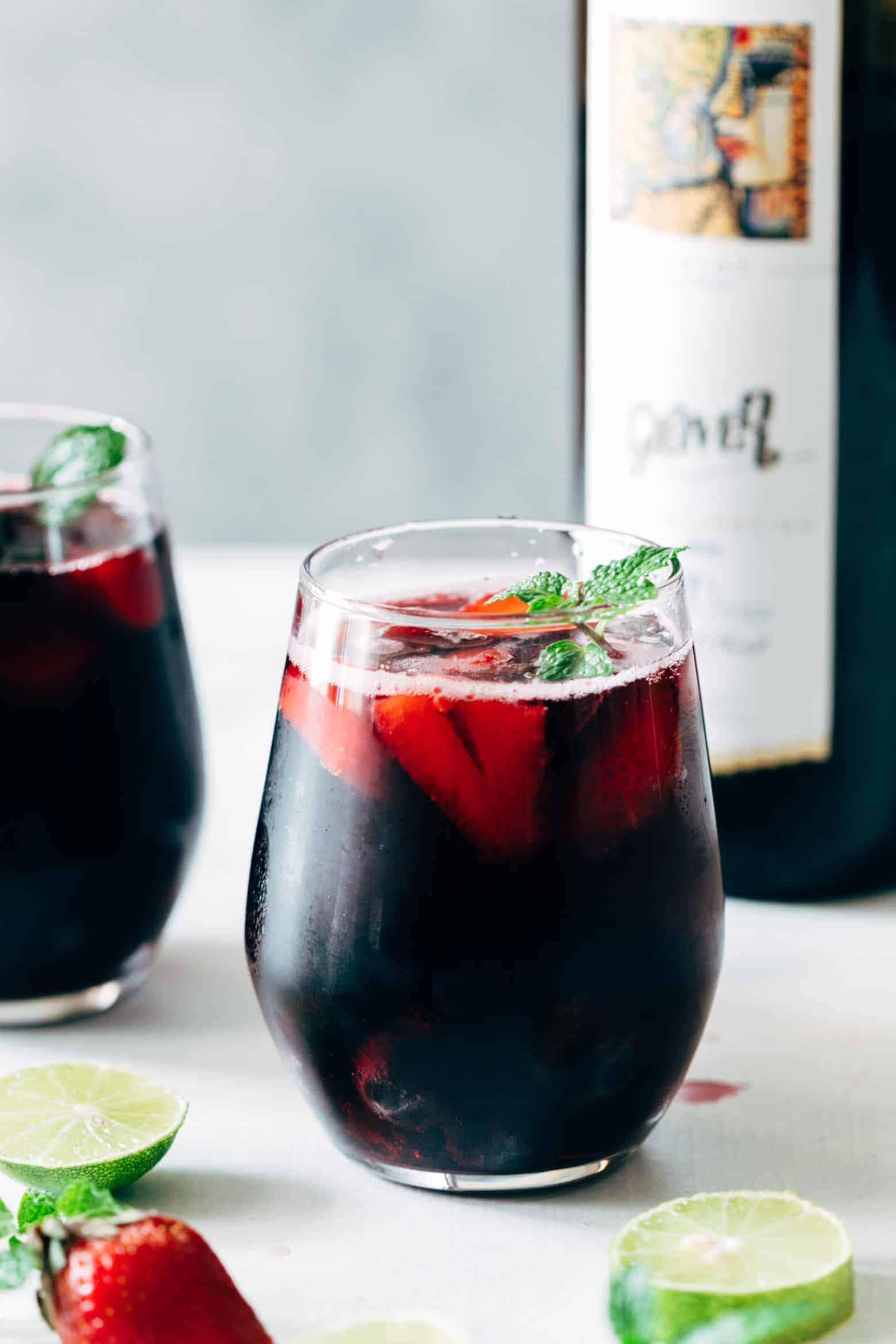 Summer Berry Red Wine Spritzer
