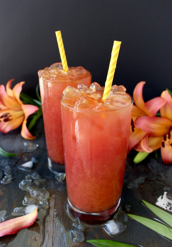'Sex on the beach' is a tropical, fruity drink with orange and cranberry juices mixed up with either rum or vodka and finished with vanilla that is the perfect summer drink to sip by the pool