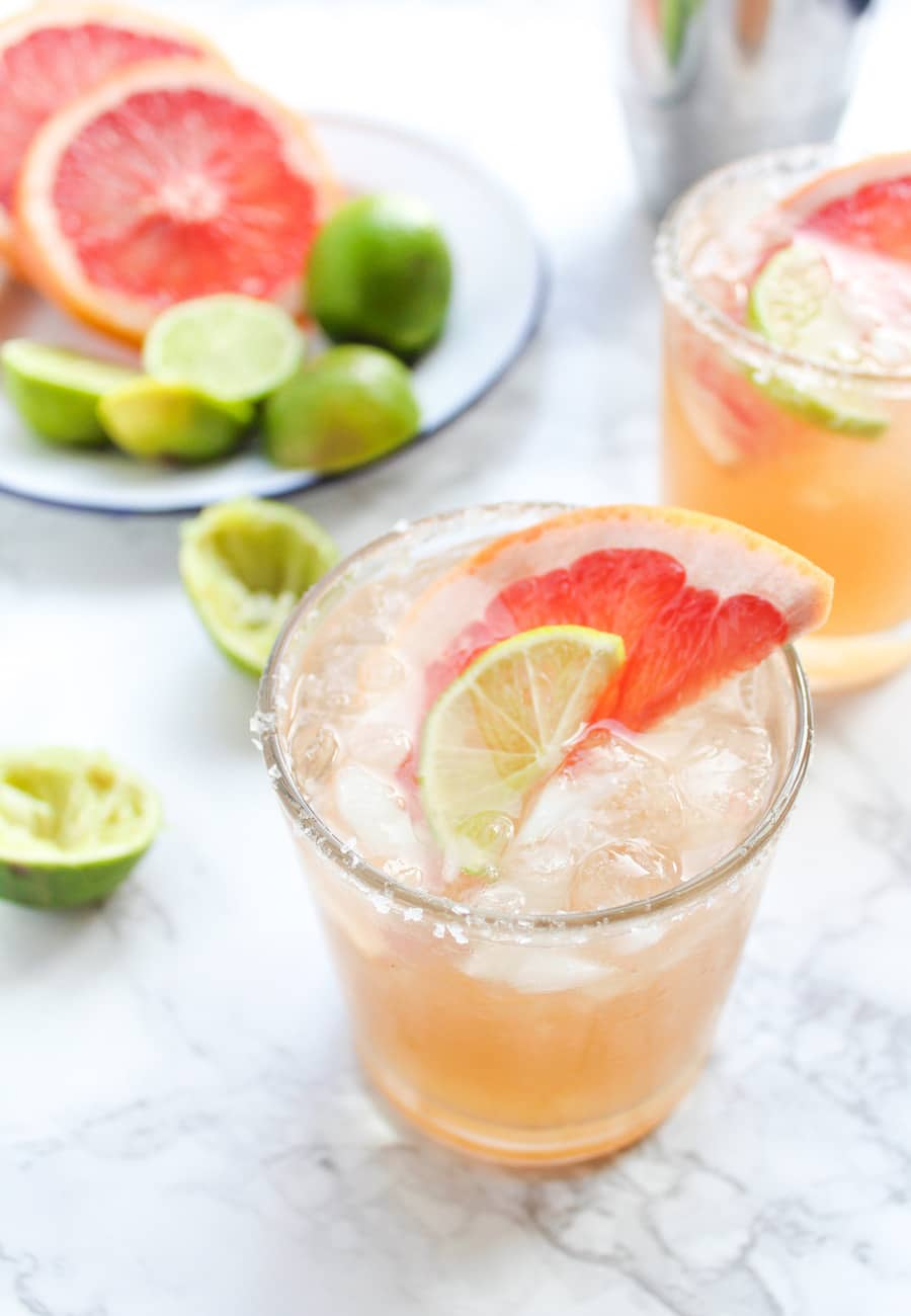 A Paloma cocktail is a classy drink usually made with tequila and grapefruit soda, but this one has a ginger beer twist to it